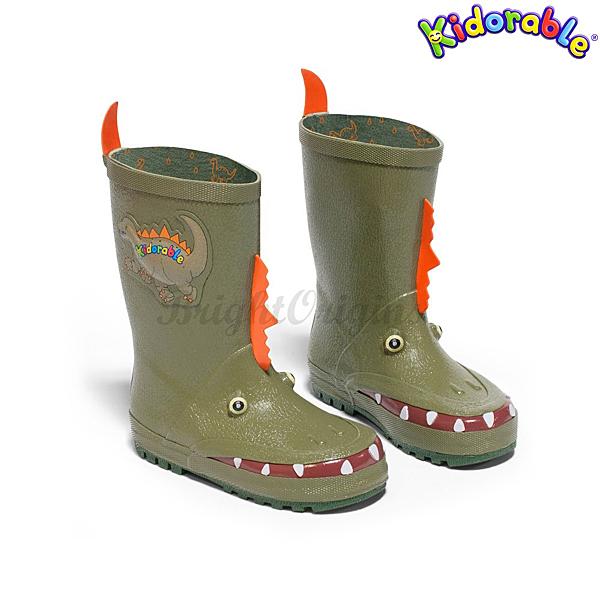 美國Kidorable 童趣雨鞋 恐龍款