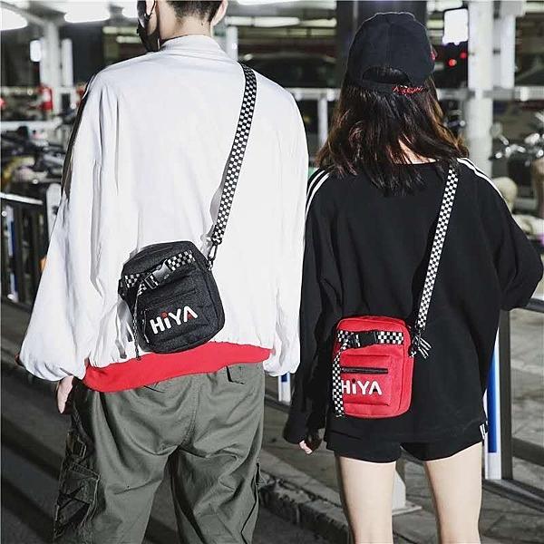 FINDSENSE 品牌 韓國 手提包港風 潮 酷 個性 插口 字母 黑白格 情