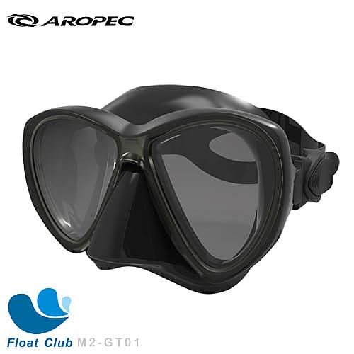 AROPEC 雙面鏡 Dobson 潛水面鏡 自由潛水 強化鏡片面鏡 M2-GT01