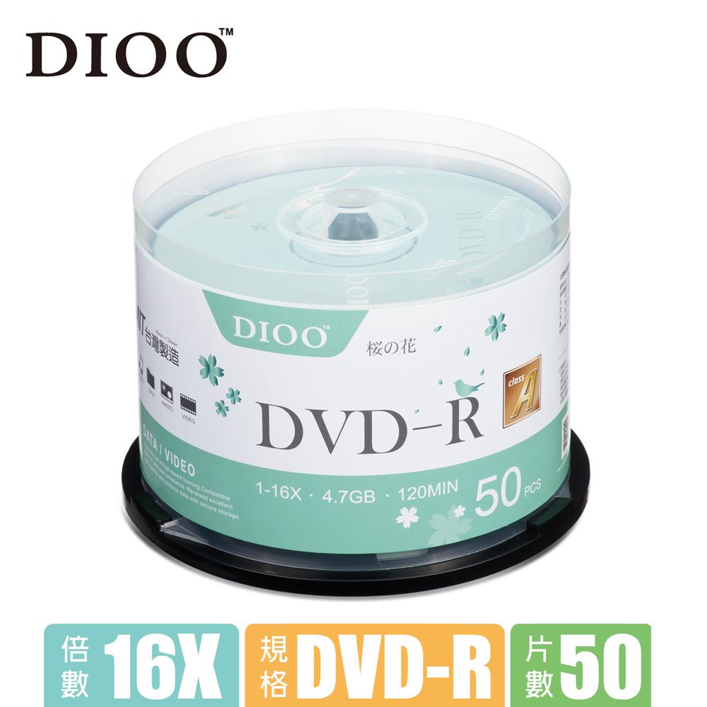 DIOO 櫻花版 16X DVD-R 50片桶