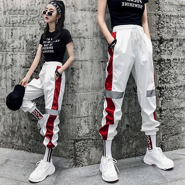 嘻哈褲子女韓式潮學生寬鬆顯瘦歐美怪味少女帥氣運動褲夏bf原宿風