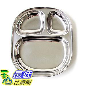 [美國直購] ECOlunchbox LT1 不鏽鋼 餐盤 Stainless Steel Divided Tray, Large, Silver
