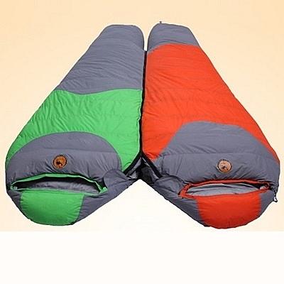 睡袋(單人)快速收納-成人戶外露營防水白鴨絨登山用品3色71q10【時尚巴黎】