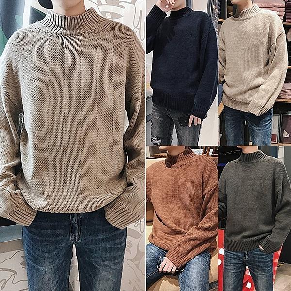 FINDSENSE G6 韓國時尚 百搭高領針織打底毛衣素面毛衣