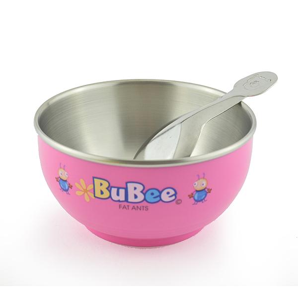 寶石牌 豆豆 #316 雙層隔熱碗 11.5cm Y-235S 兒童碗 附湯匙 台灣製