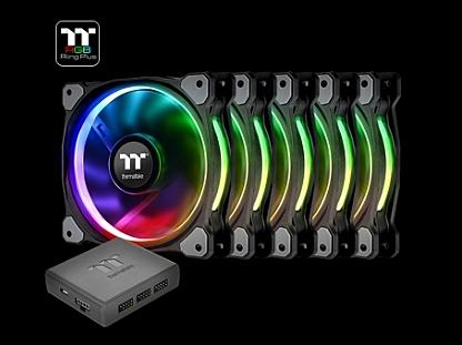 【超人百貨F】曜越 Riing Plus 14 LED RGB 數位風扇 五顆風扇包裝 CL-F057-PL14SW-A