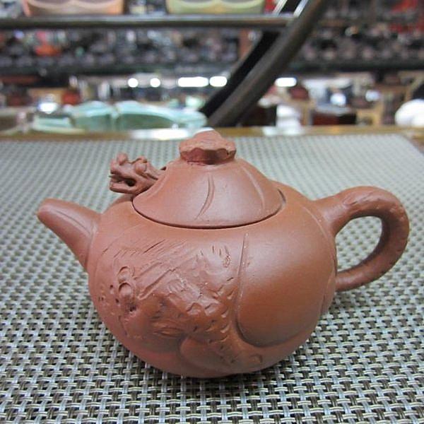 魚化龍紫砂壺 (紅色)