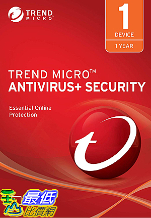 [8美國直購] 暢銷軟體 Trend Micro Antivirus+ 2019, 1 User [Key Code] 2019