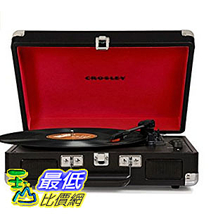 [美國直購] Crosley CR8005D-BK 黑色 手提箱黑膠播放機 可攜式音響 音箱 Cruiser Deluxe Portable 3-Speed Turntable