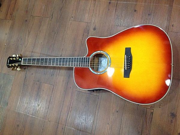 凱傑樂器 門市展示琴 TANGER TD-60CEQ 單板紅色漸層木吉他 拾音器故障 出清