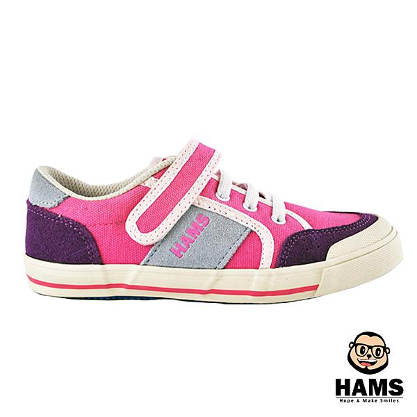 童鞋-HAMS元氣帆布魔鬼氈休閒鞋-莓力果