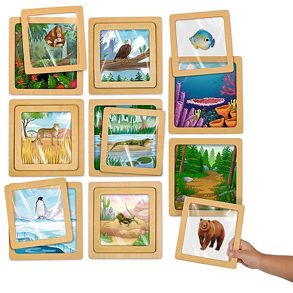 【華森葳兒童教玩具】科學教具系列-動物之家N8-TT494