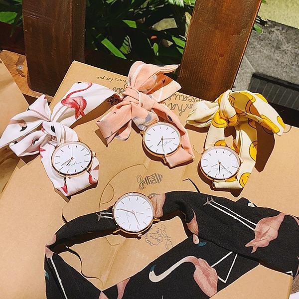 快速出貨 夏季 休閒 手錶簡約學生石英表日繫少女小清新布帶圓表綁帶腕表