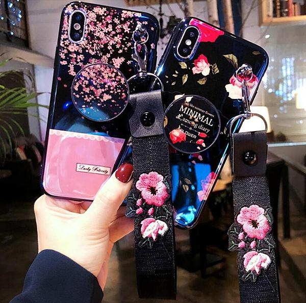 玫瑰花蘋果 IPhone Xs Max 手機殼 7/8 Plus 潮牌女款 6/6s Plus手機套 防摔軟套 6/6s/7/8 保護套