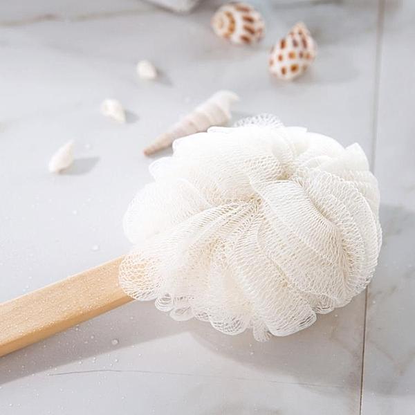 [超豐國際]長柄沐浴花加厚柔軟起泡沐浴球 大號洗澡用品浴花浴球澡