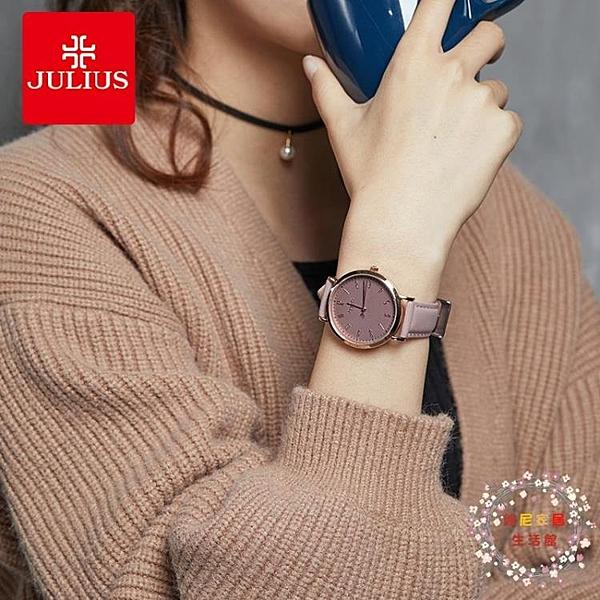 流行女錶復古手錶女學生正韓簡約時尚潮流大錶盤皮帶防水腕錶 JY【限時八折】