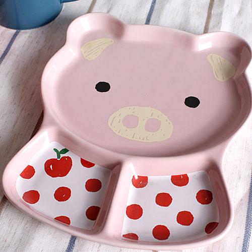 創意日式餐具(純綠色小豬盤)