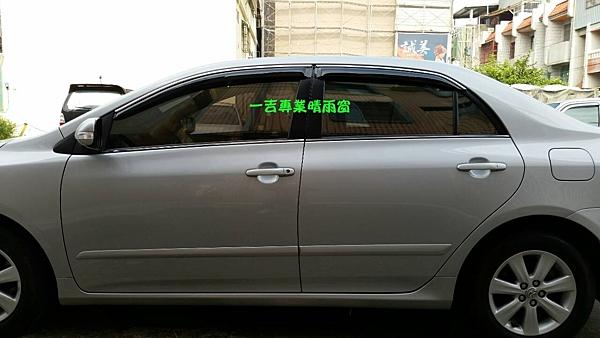 【一吉】01-12年仕 九代 Altis (前兩窗) 鍍鉻飾條.原廠款 晴雨窗 台灣製造(非Mazda,camry,crv,rav4,fit