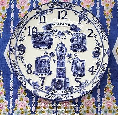 【協貿國際】復古陶瓷鐘錶盤造型裝飾品