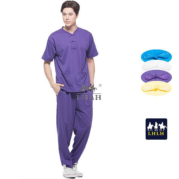 深紫色 中國風 運動套裝 唐裝 休閒套裝 短袖 男生 女生 【現貨】