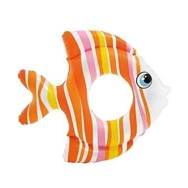 [衣林時尚] INTEX 83x81cm 熱帶魚造型泳圈(橘色) 游泳圈 (3-6歲) 59223