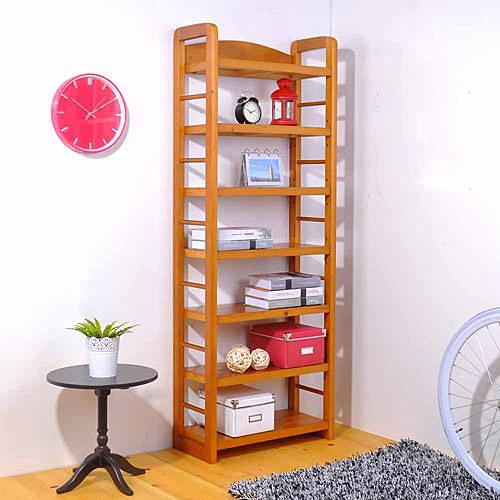【嘉事美】實木七層多功能書架/萬用架/置物架 穿衣鏡 電腦椅 辦公桌 茶几 書櫃 鞋櫃