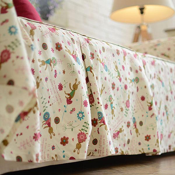 [超豐國際]韓式卡通圖案 全棉 沙發巾 沙發罩 沙發套 沙發1入