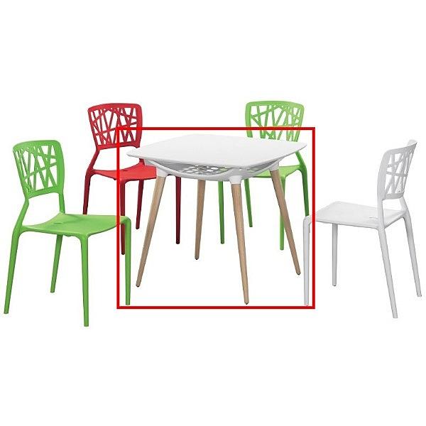休閒桌椅 FB-842-1 德尼亞白色造型桌【大眾家居舘】
