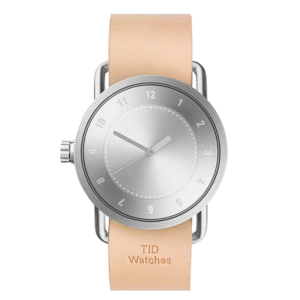 TID No.1 / 裸色皮革錶帶-銀/40mm