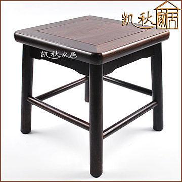 黑檀實木方凳仿古方形小凳子