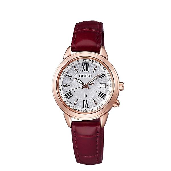 【贈錶帶】SEIKO LUKIA 鈦 太陽能電波女錶紅色錶帶 1B25-0AR0R(SSQV022J)