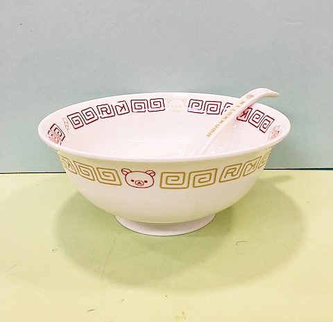 【震撼精品百貨】Rilakkuma San-X 拉拉熊懶懶熊~拉拉熊陶磁拉麵大碗(附湯匙)#65087