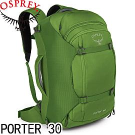 【OSPREY 美國 PORTER 30《硝基綠》登山背包】PORTER 30/登山包/登山/健行/自助旅行/雙肩背包
