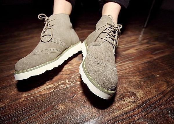 【找到自己】英國代購 高筒 雕花 麂皮 皮鞋 真皮鞋
