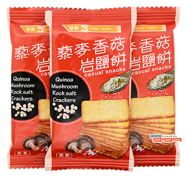 【吉嘉食品】厚毅 藜麥香菇岩鹽餅 300公克,產地馬來西亞 [#300]{1818255}