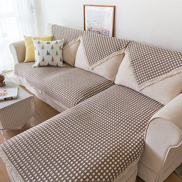 時尚簡約四季沙發巾 沙發墊防滑沙發套47 (客製尺寸4)