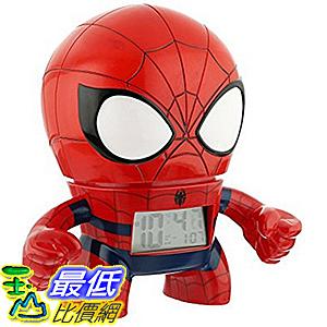 [美國直購] BulbBotz Marvel 2020039 人偶鬧鐘 蜘蛛人 Spiderman Plastic Alarm Clock (7.5吋高)