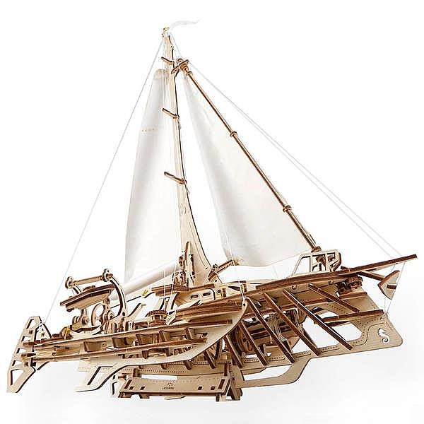 Ugears 自我推進模型 - 飛翔的霍爾斯號 Trimaran Merihobus