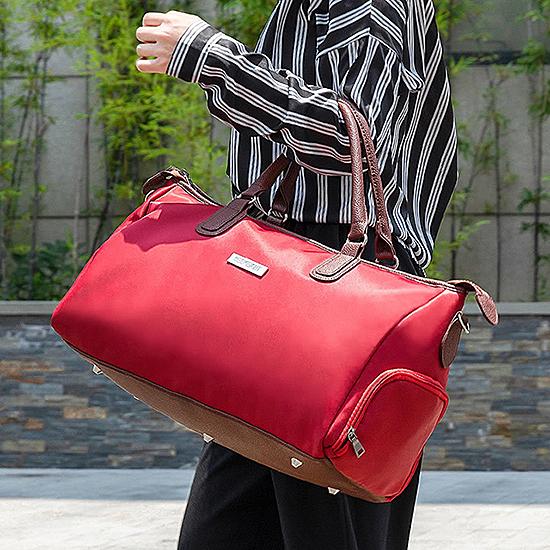 旅行袋 行李袋 媽媽包 健身包 肩背 手提 大容量 斜背 加大款 運動 肩背 手提旅行袋【B013】慢思行