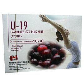 U-19 CRANBERRY 蔓越莓 膠囊 60粒(盒)*7盒