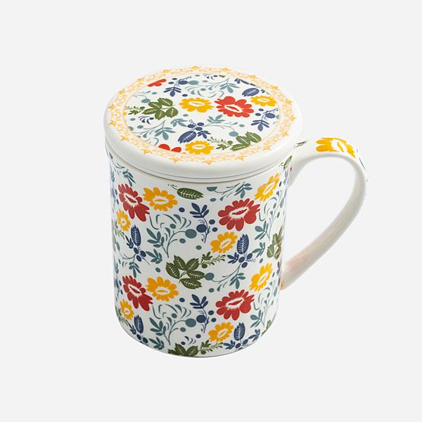 季節花語不倒泡茶杯 不倒杯 防倒杯 兒童 老人 家人 安全杯【mocodo魔法豆】