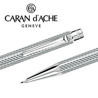 CARAN d'ACHE 瑞士卡達 ECRIDOR 艾可朵幾何麥紋自動鉛筆 0.7 (鈀金) / 支
