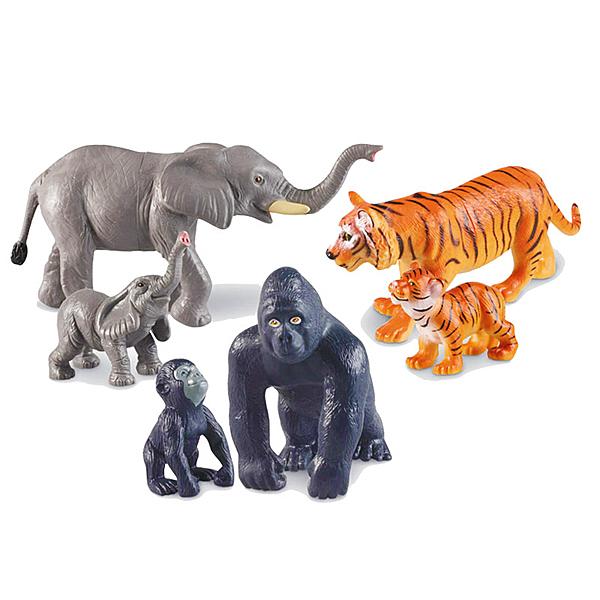 【華森葳兒童教玩具】建構積木系列-巨型叢林動物組 N1-0839