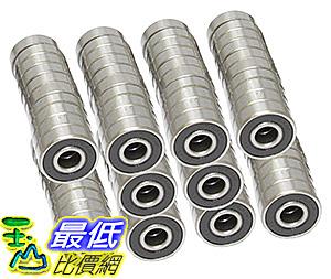 [106美國直購] 608-2RS Skateboard Bearing,8x22x7,Sealed (Pack of 100)