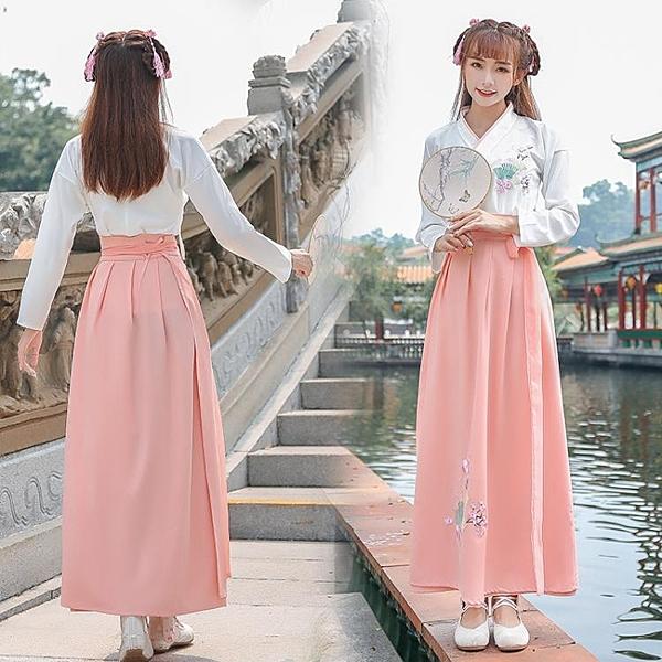 降價兩天 秋冬季漢服女裝傳統古裝漢元素民族風日常改良襦裙清新淡雅演出服