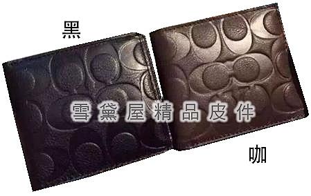 ~雪黛屋~COACH 短夾國際正版保證進口防水防刮皮革標準尺寸活動型證件夾品證購證塵套提袋C749921