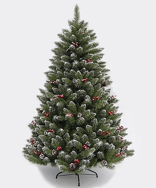 6呎PVC尖頭紅果(裸樹)180CM高 聖誕節 聖誕襪聖誕帽聖誕燈聖誕金球聖誕服聖誕蝴蝶結花