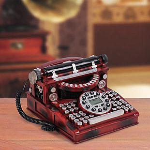 F0501 外貿流行 經典仿古電話 好心藝打字機電話 家居日用電話 創意禮品