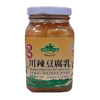 味榮有機川辣豆腐乳300g/罐