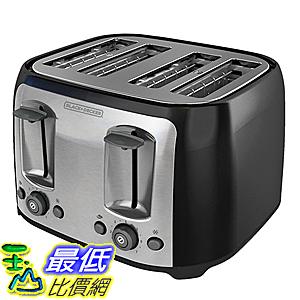 [美國直購] BLACK+DECKER TR1478BD 烤麵包機 烤土司機 4-Slice Toaster, Black